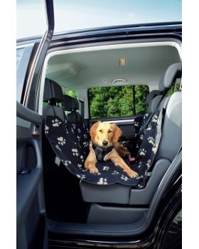 Автомобильный гамак для перевозки собак 1,40х1,45см.,нейлон, серый/беж.