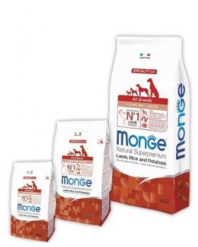 Monge Dog Speciality Puppy&Junior корм для щенков всех пород ягненок с рисом и картофелем