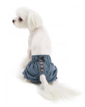 "CO09 Ошейник ""Designer blue jeans"""