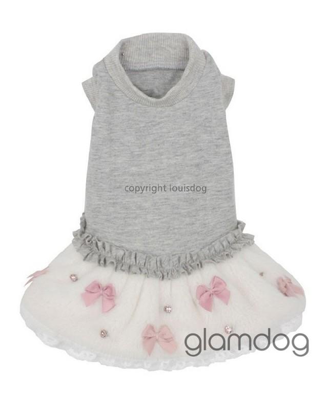 """1412 LD Платье """"Organic Bow"""" с меховой юбочкой"""