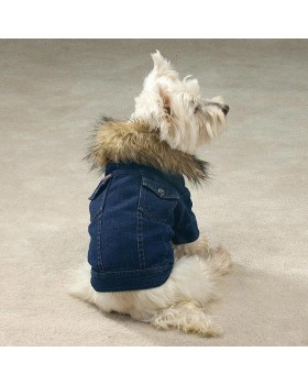 435 Куртка джинсовая с мехом