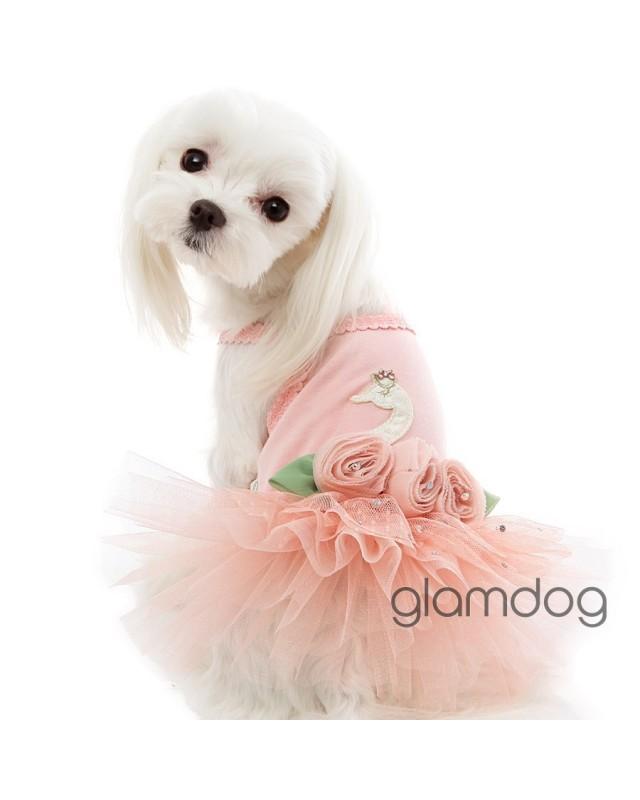 """120 Платье для собаки """"Лебедушка"""""""