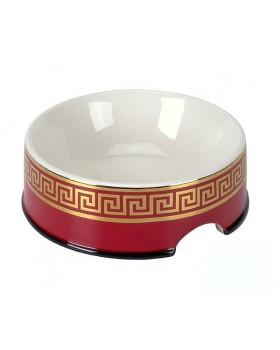 """1330 Миска для собак """"Версачи"""" красная с золотом"""