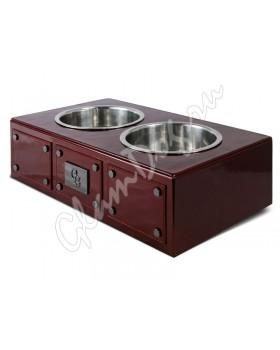 3083 Миска для собаки Burgandy бордовая