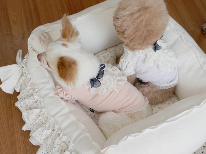 лежанка из хлопка для собак