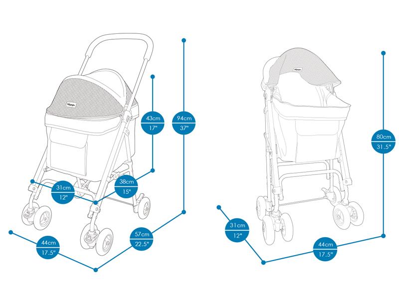 размеры коляски для собак