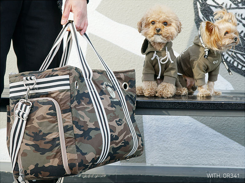 сумка для собаки стиль милитари
