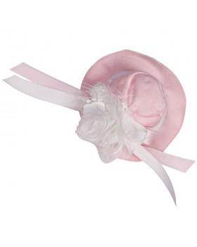 7020 Шляпка свадебная розовая